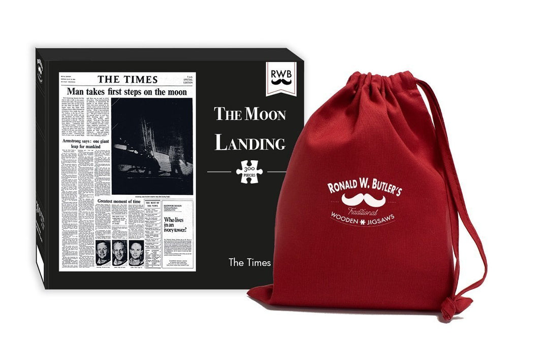 The Times Newspaper - The Moon Landing 300 Piece Wooden Jigsaw Puzzle