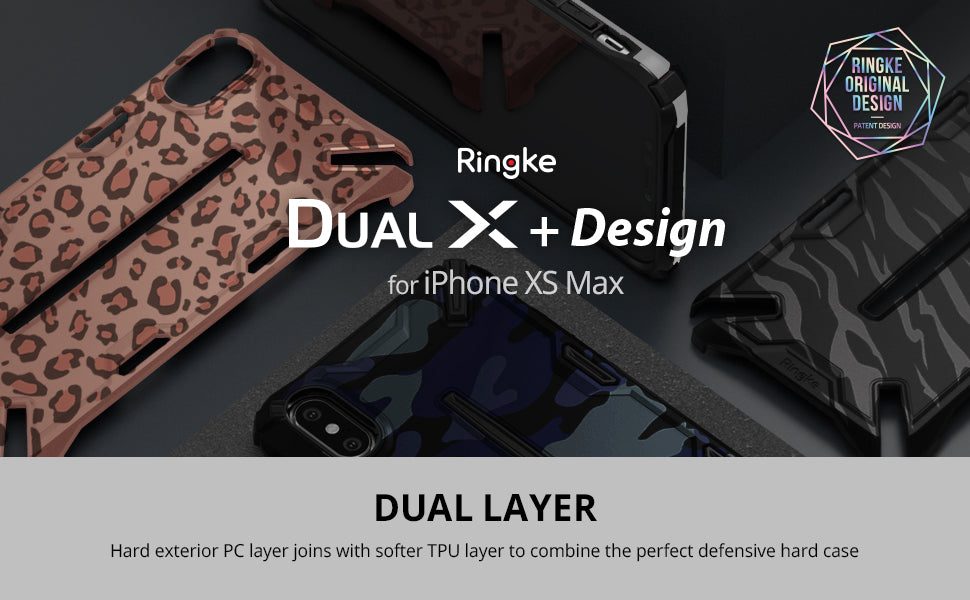 Ringke Dual-X Design for [iPhone Xs Max Case] Dual-Layer Reinforced Heavy Duty Protective Cover for [iPhone Xs Max]