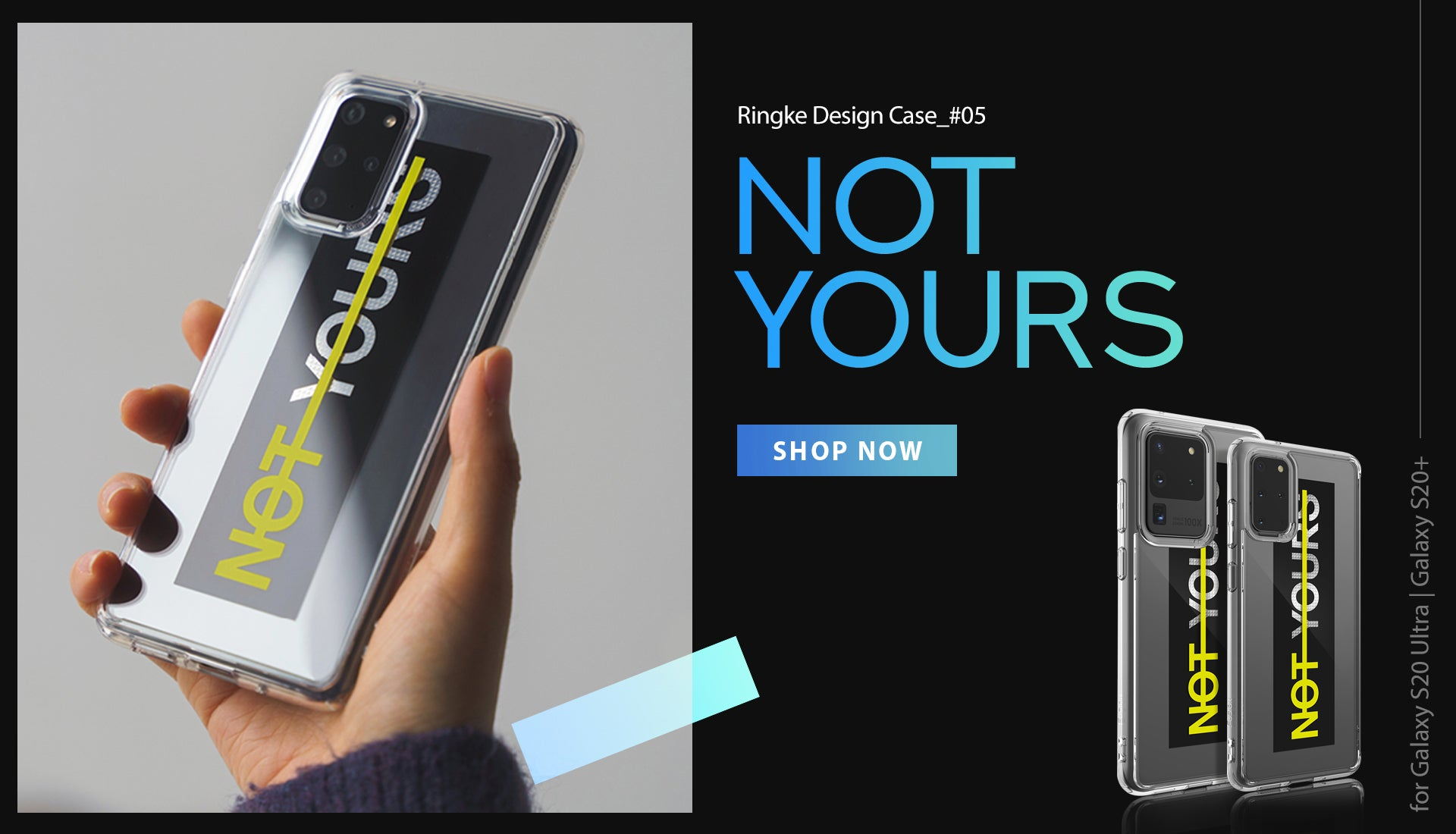 Ringke Design Case Not Yours designed for Galaxy S20 Ultra, S20 Plus