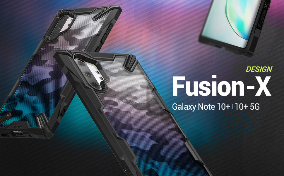 Ringke Fusion-X DDP for Galaxy Note 10 Plus 5G (2019) Camo Black