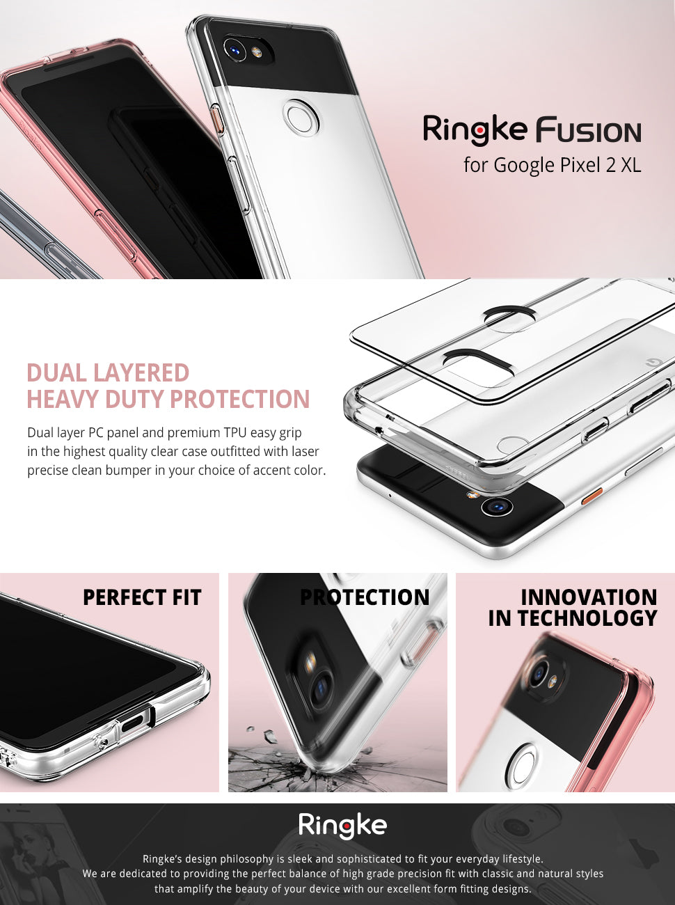 ringke fusion case for google pixel 2 xl