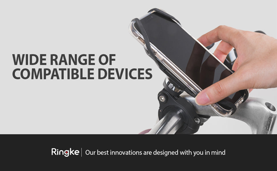 Ringke Spider Grip Mount Holder for Bike Universal Smartphones Handler Clamp 360° Rotation Bicycle Cradle Accessories