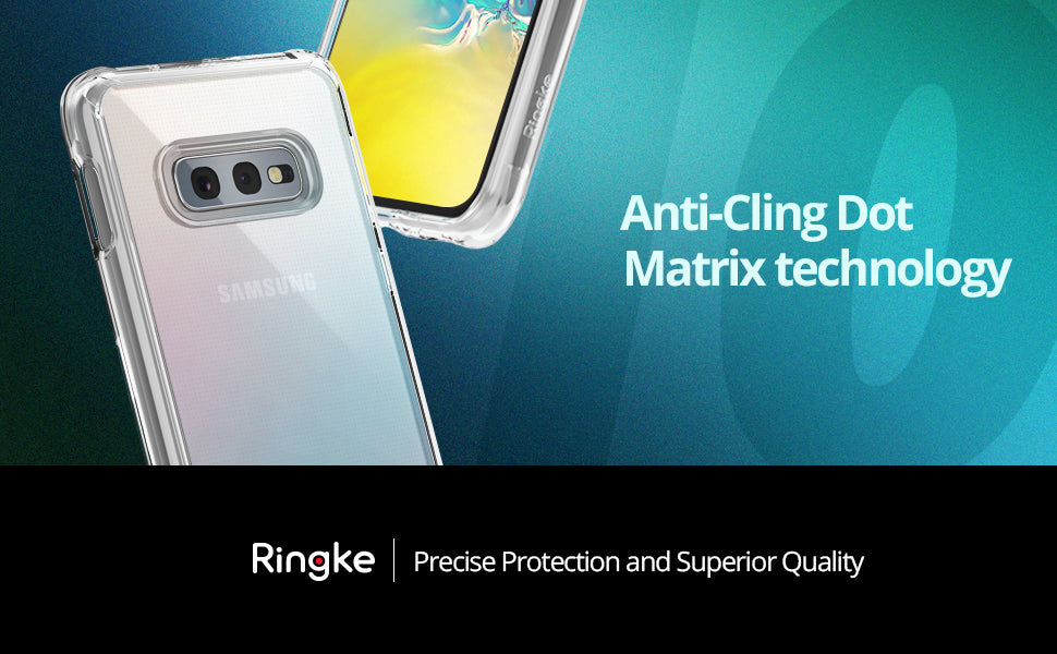 "Ringke [Fusion Designed for Galaxy S10e (5.8"") Crystal Clear PC Back Case"
