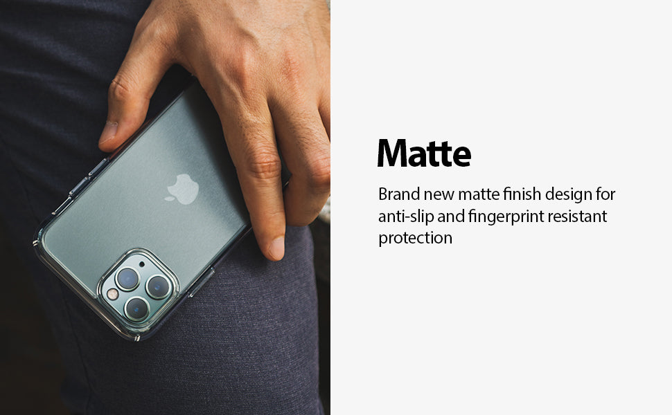 Ringke Fusion Matte Compatible with iPhone 11 Pro Case (2019) - Clear