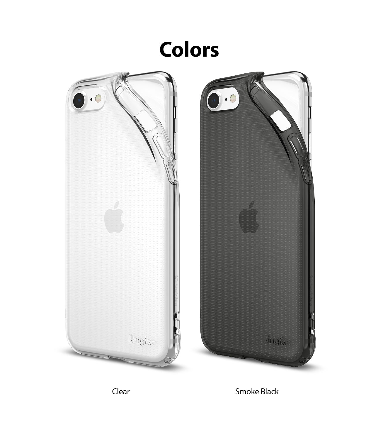 available in clear / smoke black. compatible with apple iphone 8 / SE 2020