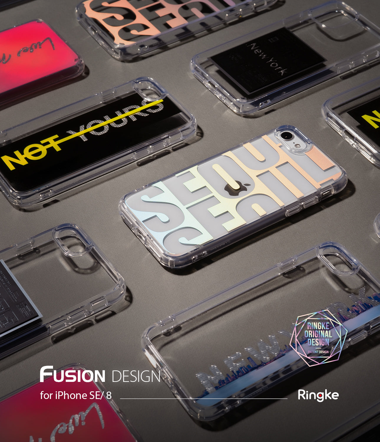 iPhone SE 2020 Case | Fusion Design 04. New York : Label