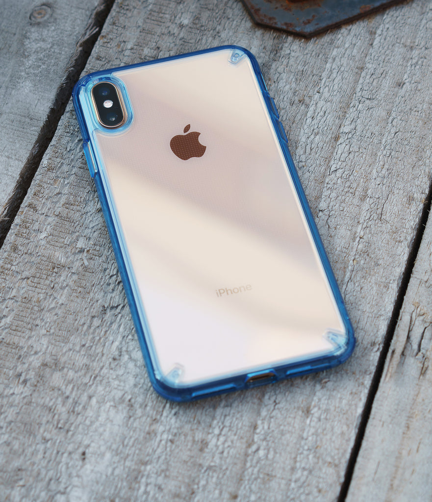 ringke fusion for apple iphone xs max case cover main smoke space blue