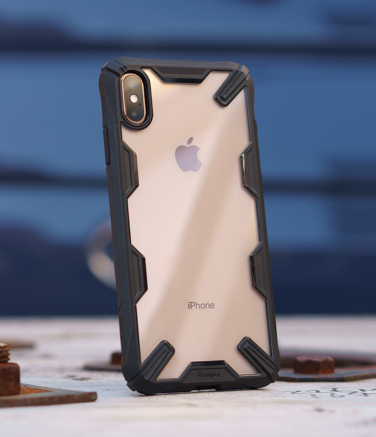 ringke fusion-x for apple iphone xs max case cover main black real image