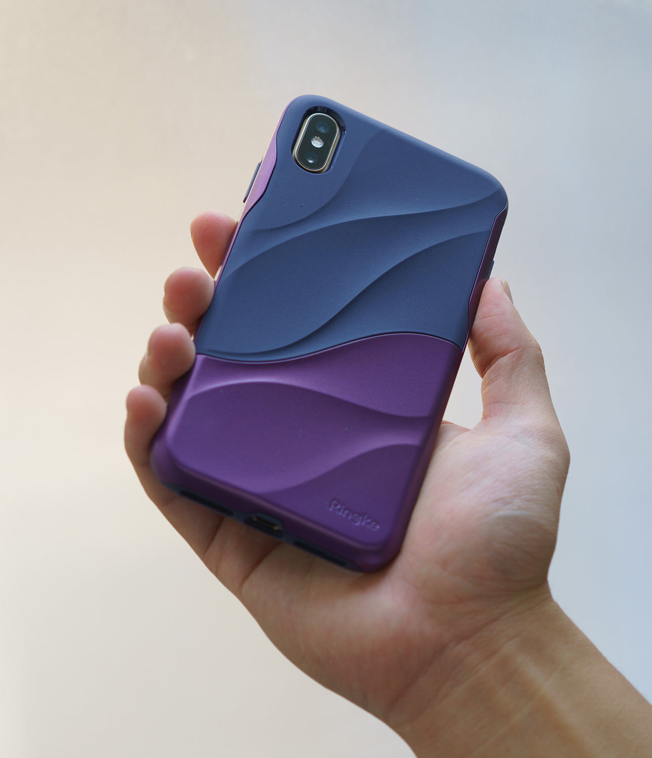 ringke wave for iphone xs case cover main metallic purple real