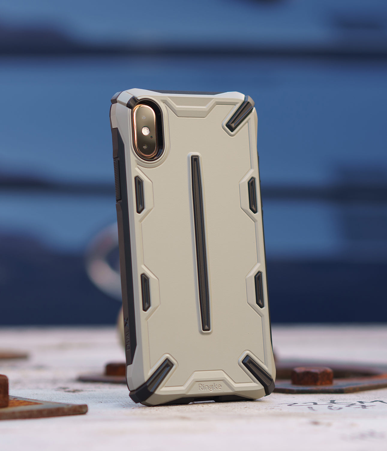 ringke dual-s for iphone xs case cover main sand