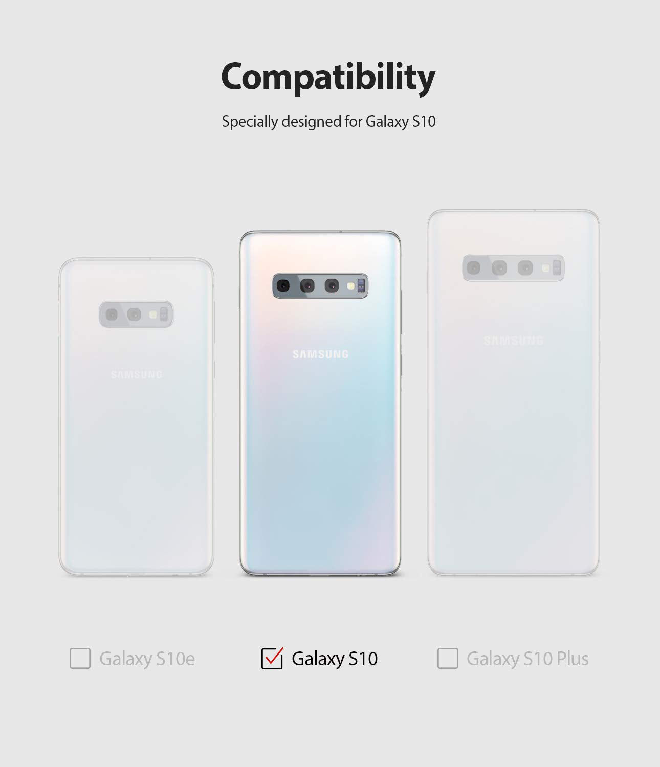 galaxy s10 case, ringke, onyx case, compatibility