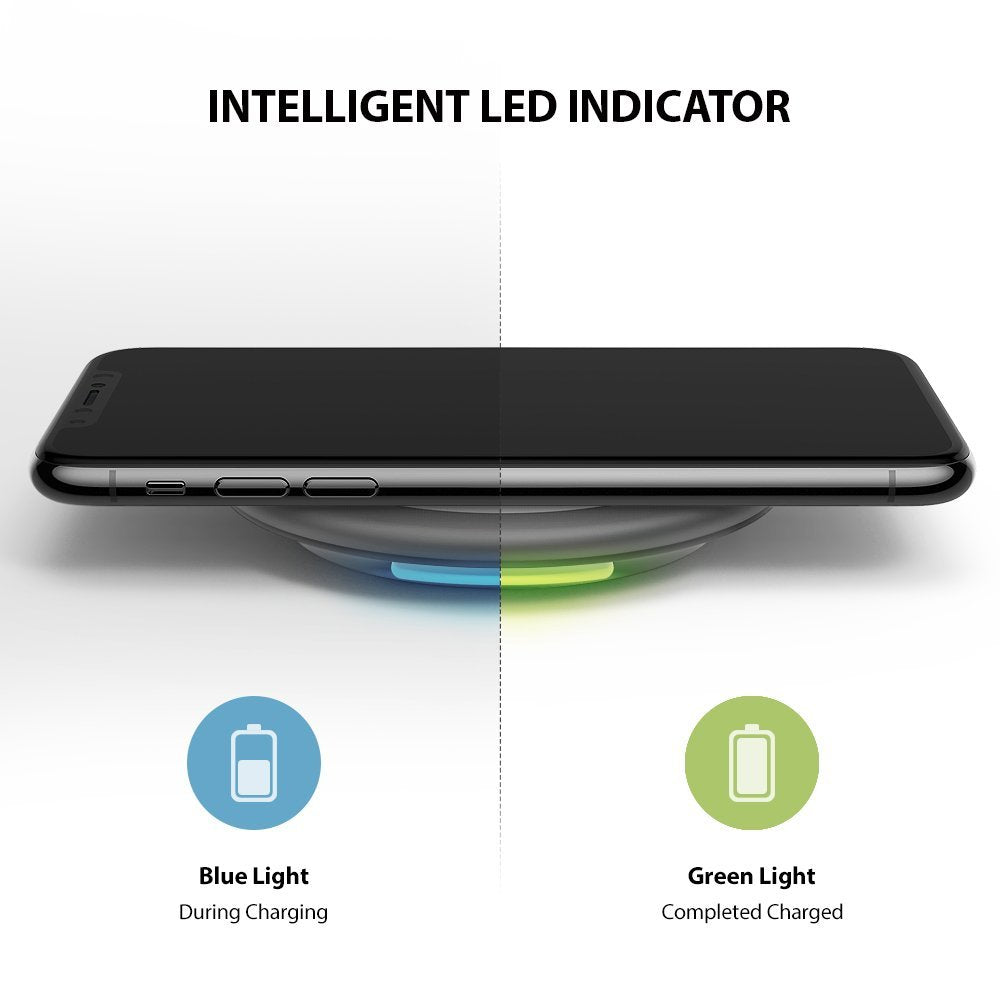intelligent LED indicator. blue light during charging and green light when charging completed