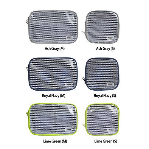 ringke pouch travel organizer bag multi function travel portable pouch mesh transparent vinyl window zippered top divided pockets tidy electric gadgets accessories cosmetic bag