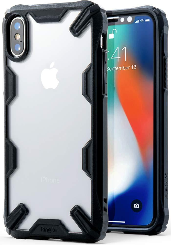 apple iphone x fusion-x case black