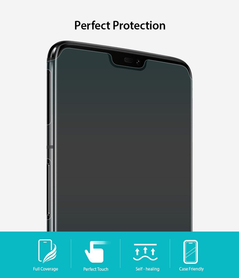 OnePlus 6 [Invisible Defender] Full Coverage [3 Pack]