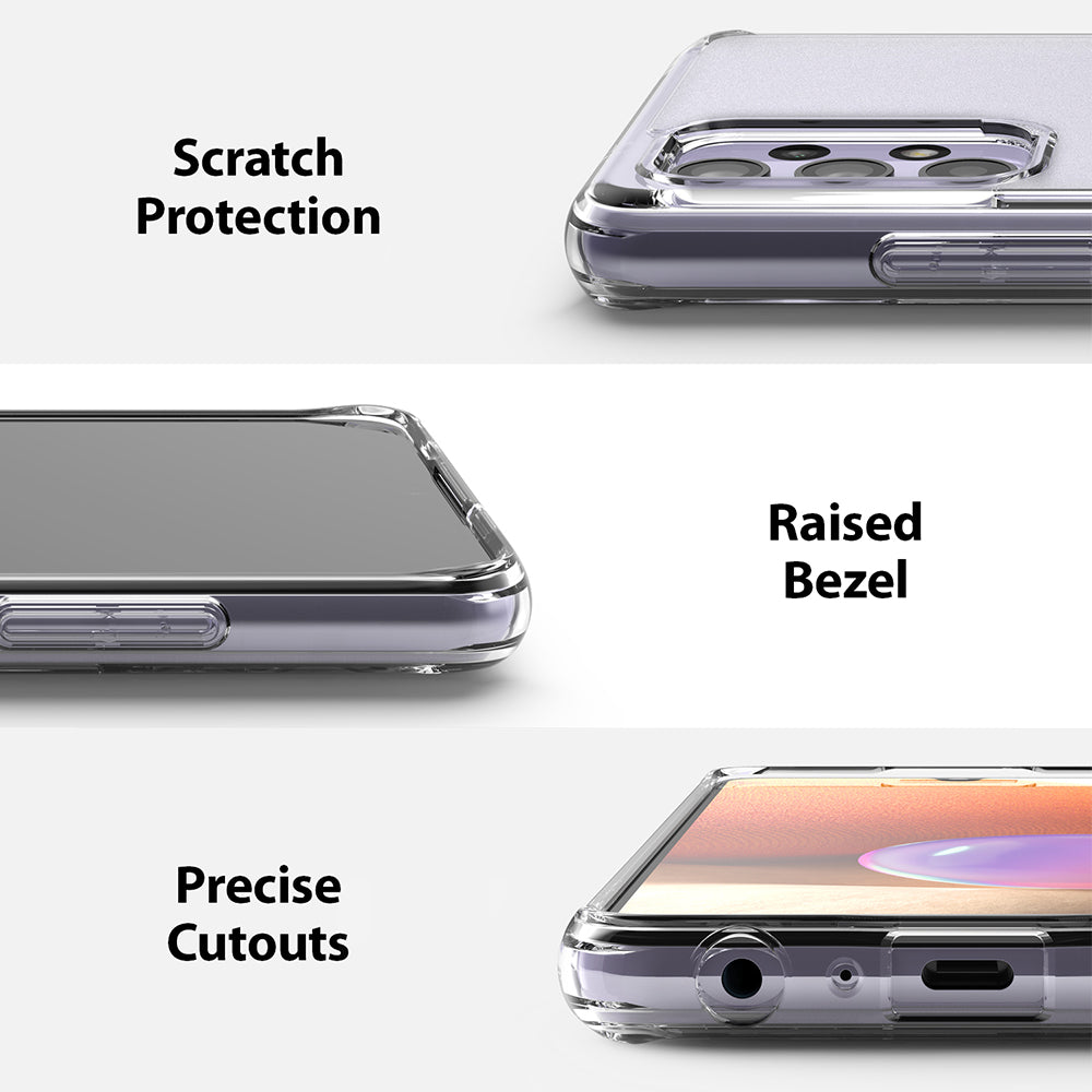 scratch protection with raised bezel