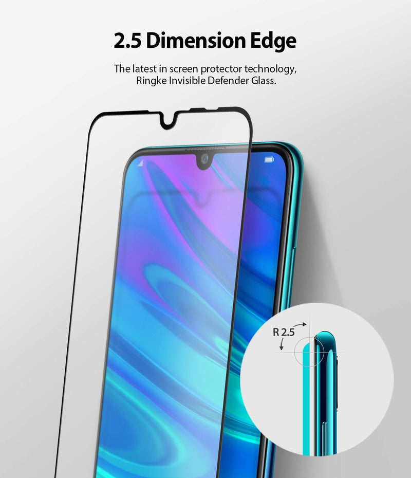 huawei p smart 2019 invisible defender glass full coverage screen protector
