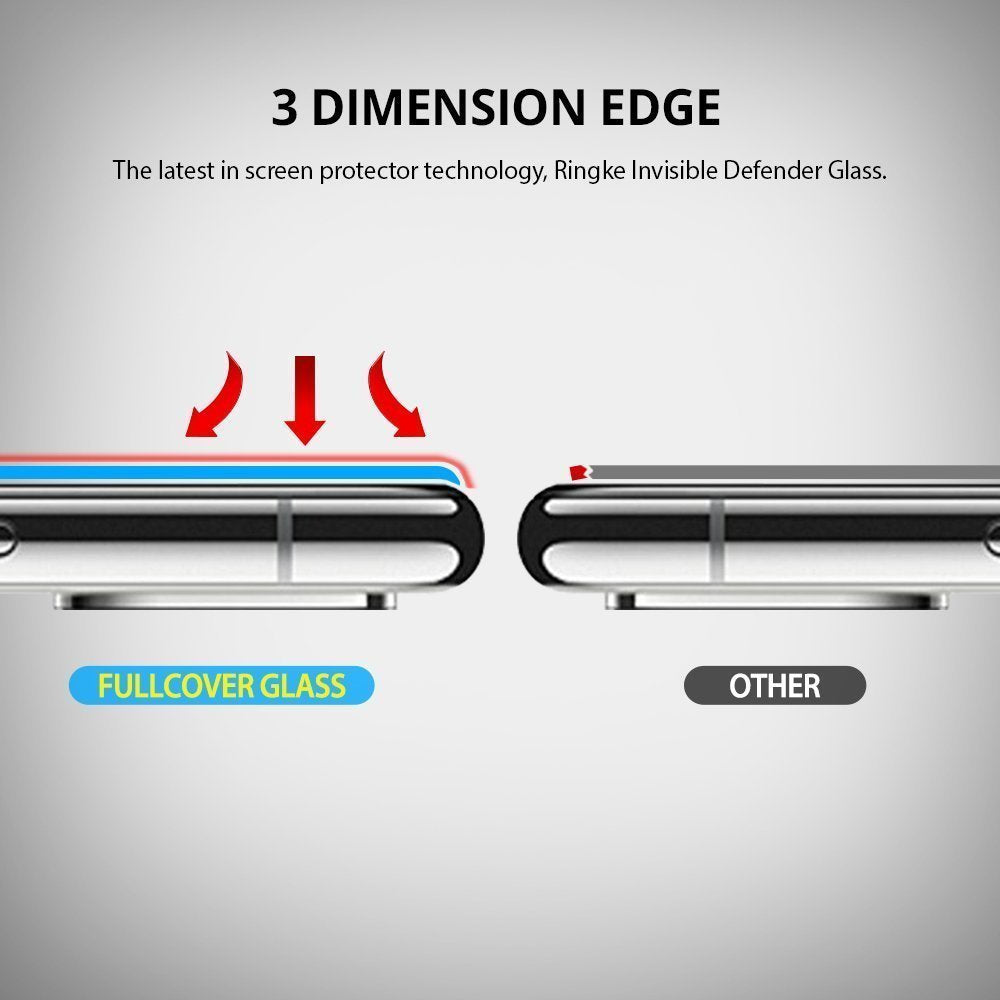 ringke invisible defender tempered glass screen protector for iphone x