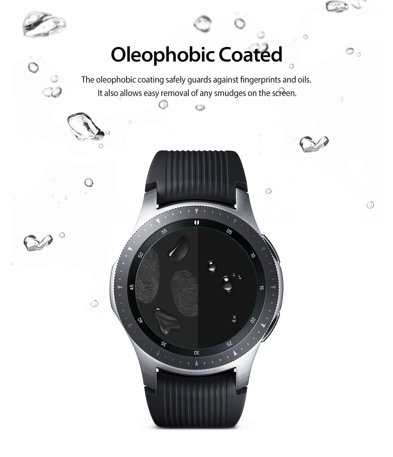samsung galaxy watch mm gear s3 invisible defender glass oleo phobic coated