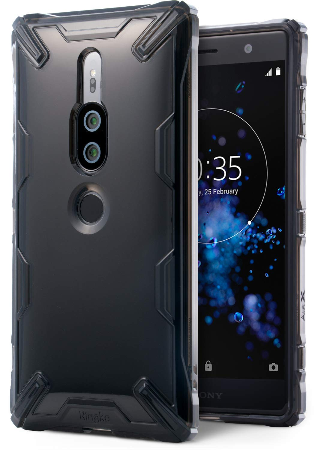 xperia xz2 premium case ringke air-x case smoke black
