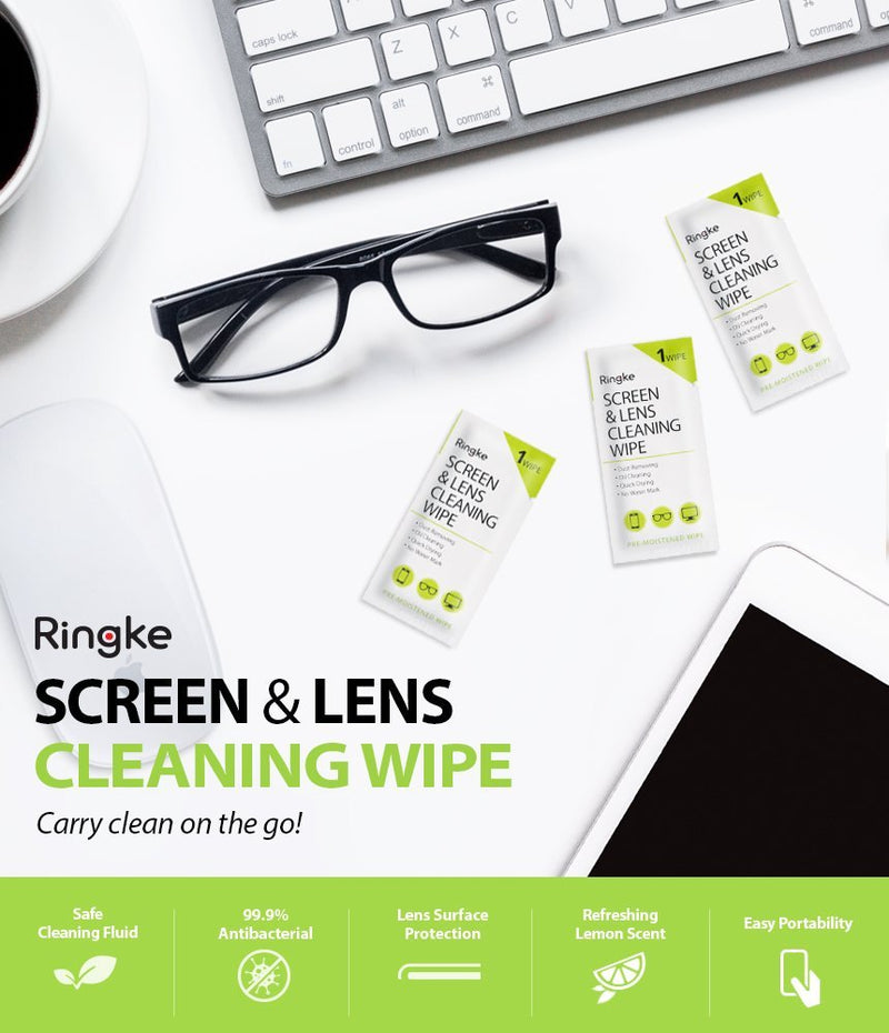 ringke screen and lens cleaning wipes 50 pack