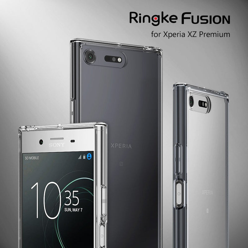 sony xperia xz premium case ringke fusion case crystal clear pc back tpu bumper case