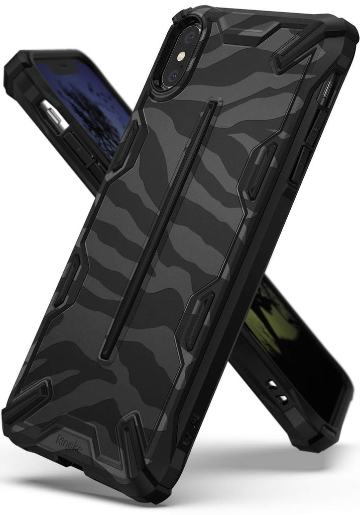ringke dual-x for iphone xs case cover main zebra black