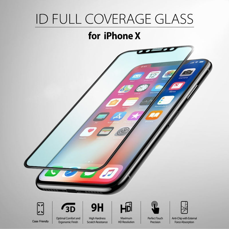 the latest 8c280 f5e2d iPhone X [Invisible Defender Glass] Full Coverage [1 Pack]