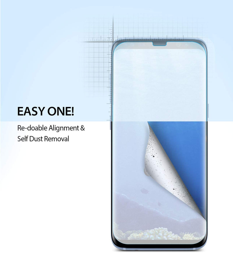 galaxy s8 dual easy full cover screen protector 2 pack