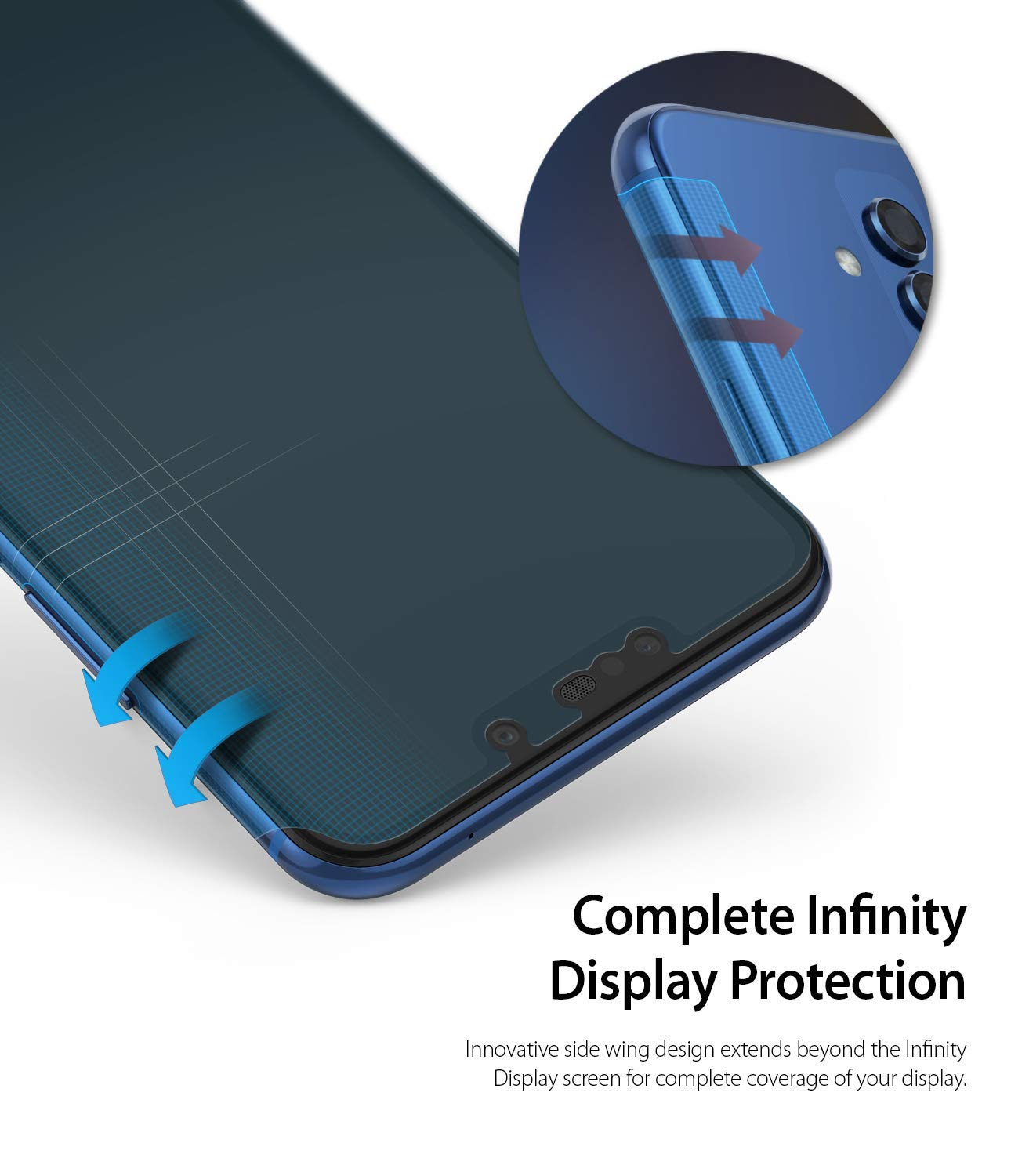 complete infinity display protection with innovative wing system