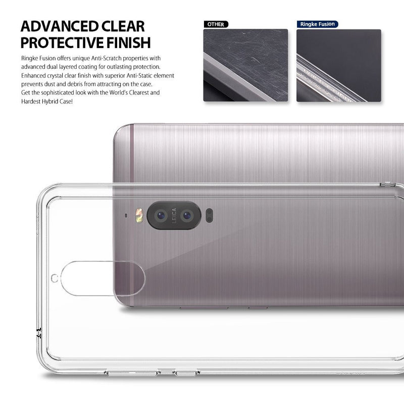 Huawei Mate 9 Pro Case, Ringke® [FUSION] Crystal Clear PC Back TPU Bumper Case