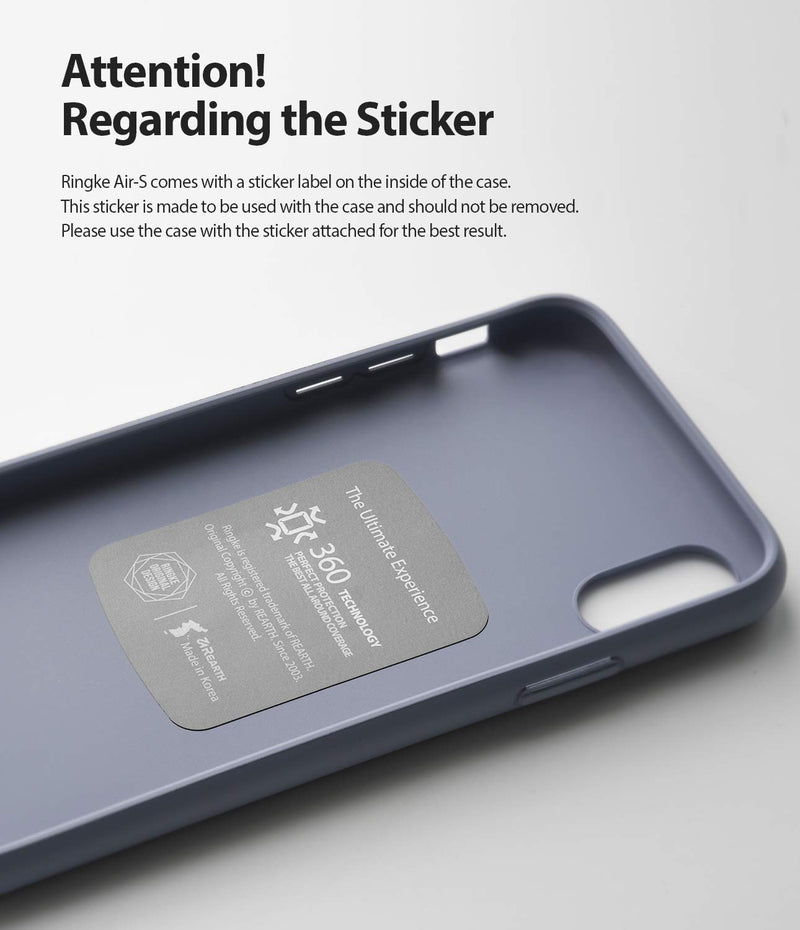 Ringke Air-S Case for Galaxy Note 10 5G (2019) attention! regarding the sticker