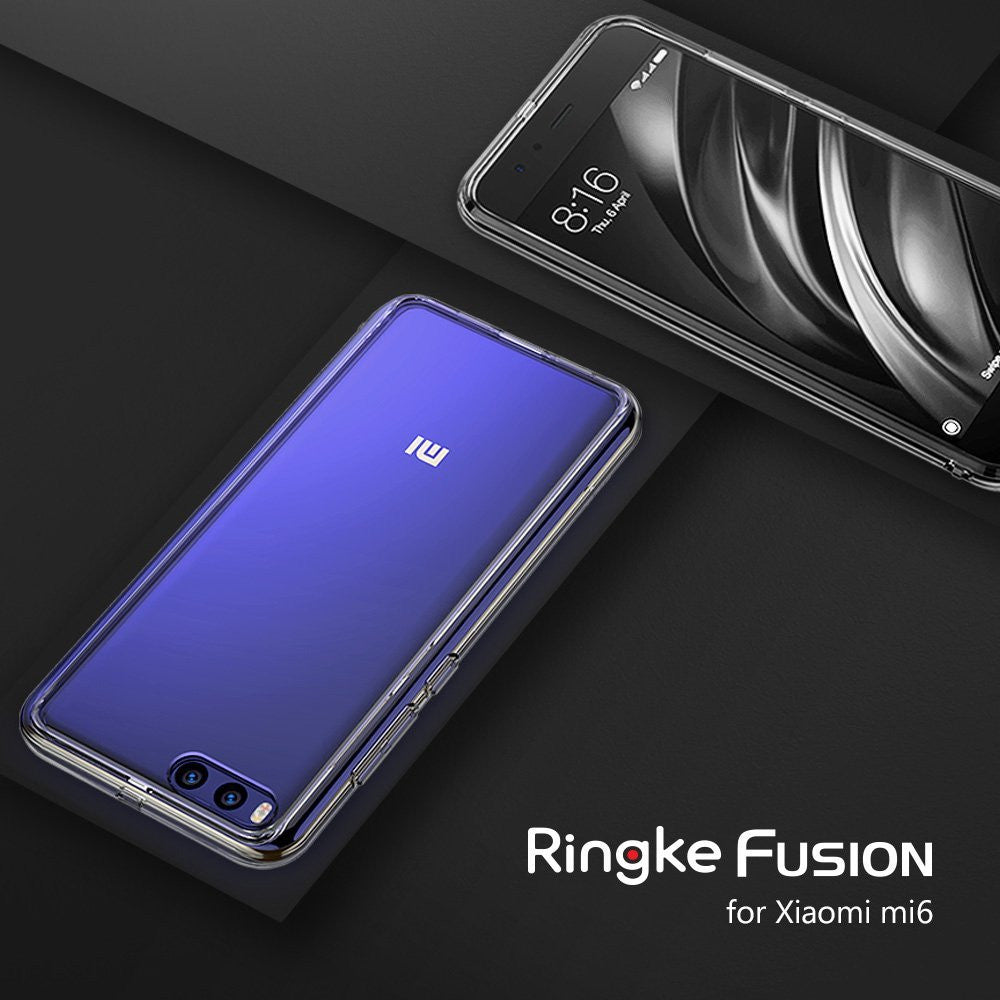 xiaomi mi6 case ringke fusion case crystal clear pc back tpu bumper case