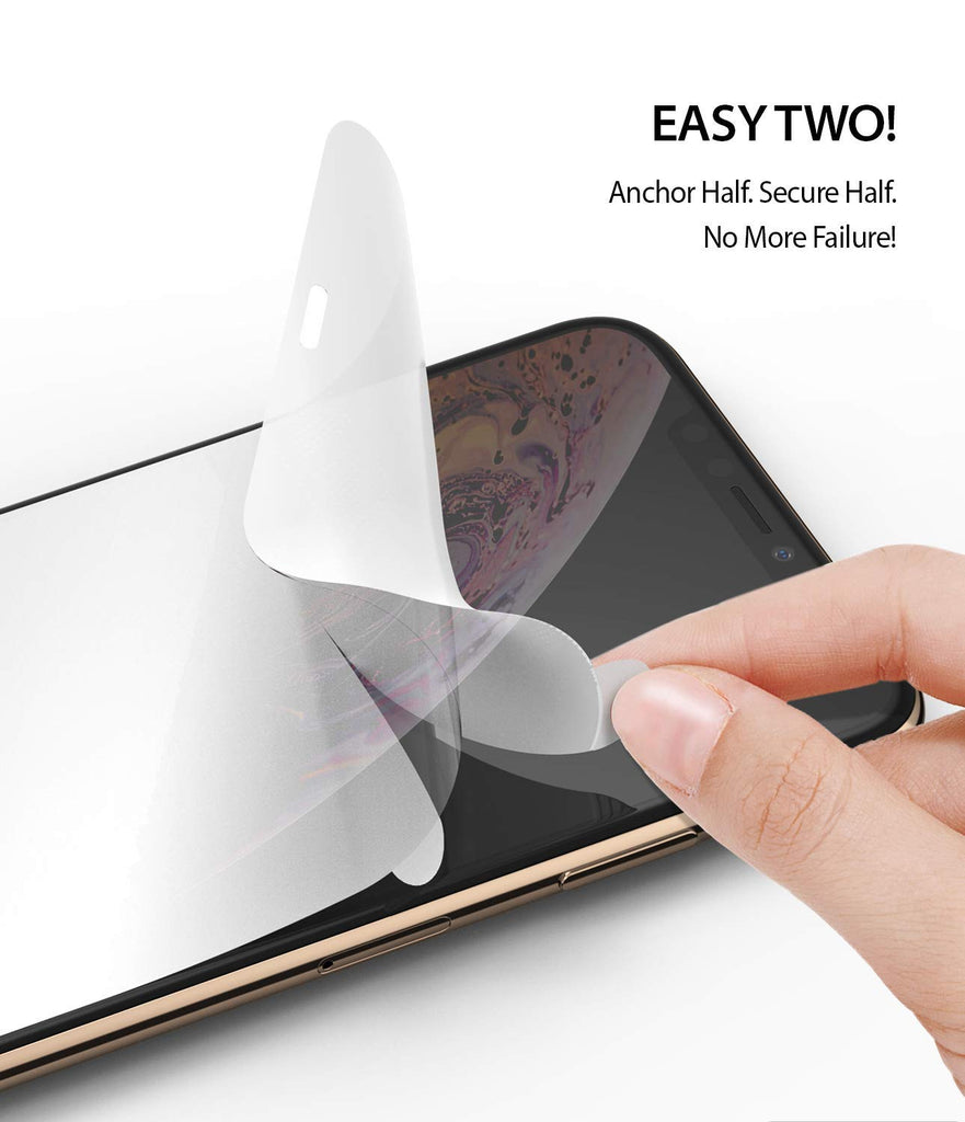 ringke dual easy film screen protector for iphone xs max
