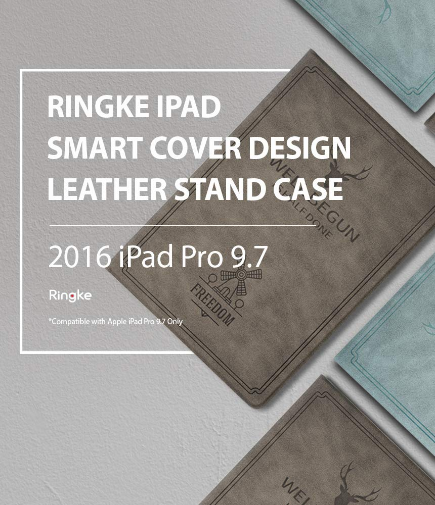 "Ringke Smart Cover Design Leather Stand Case for iPad Pro 2016 (9.7"")"