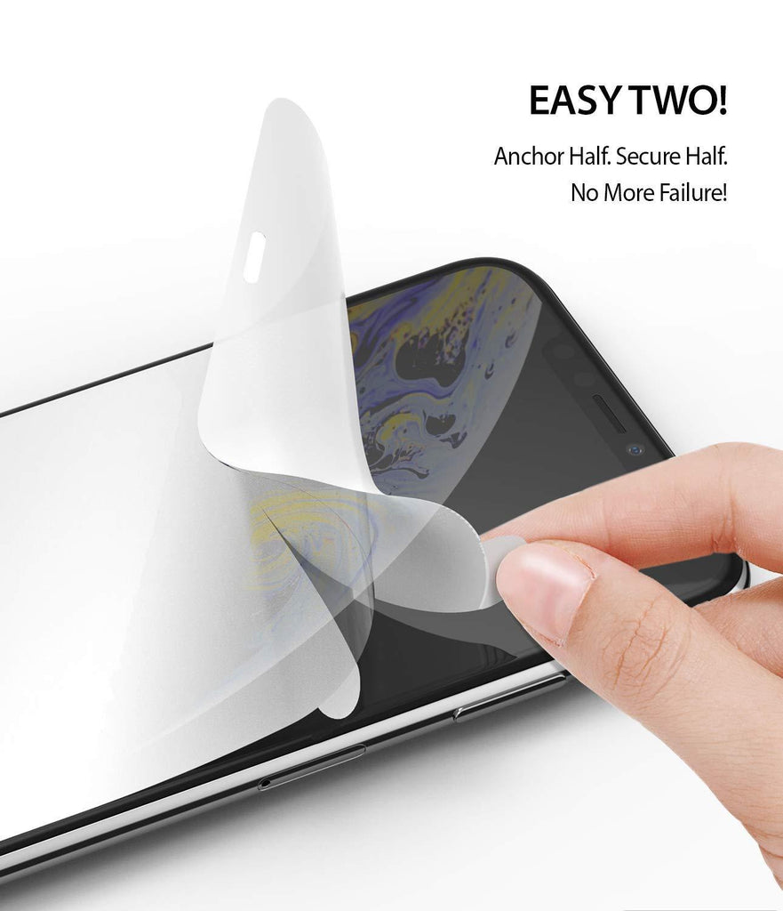 ringke dual easy film for iphone xs screen protector easy step two