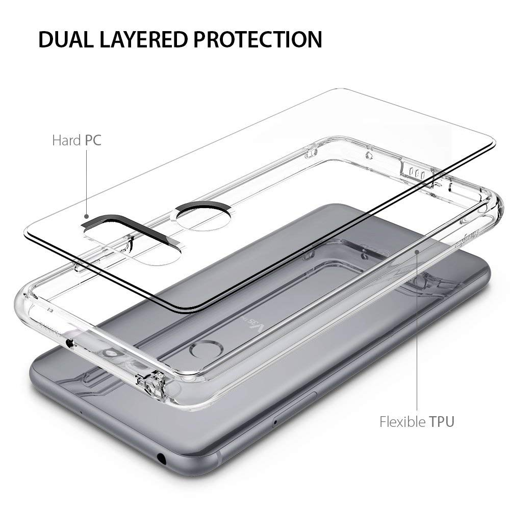 dual layered protection with hard pc and flexible tpu