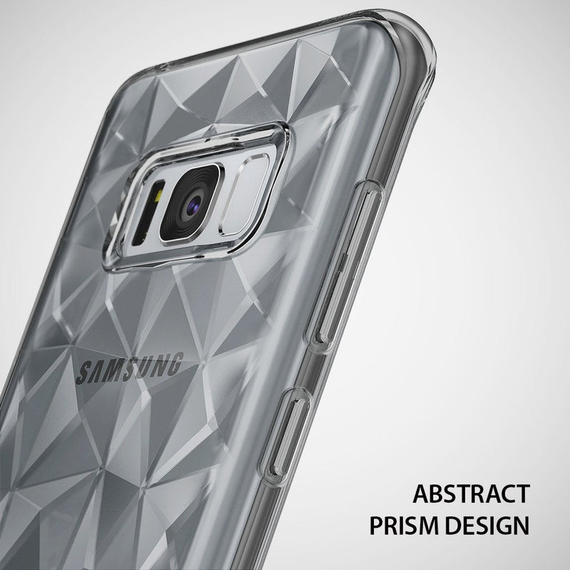 Galaxy S8 Case, Ringke® [AIR PRISM] 3D Contemporary Design Flexible TPU Protective Case