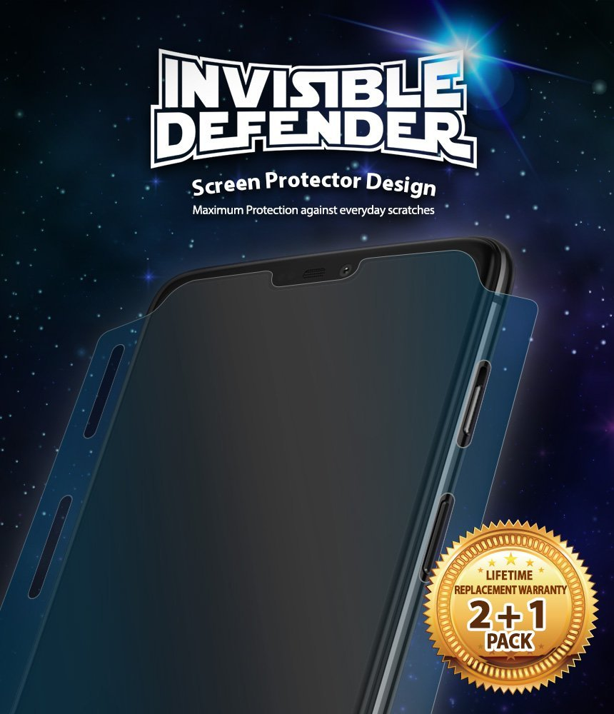 oneplus 6 invisible defender full coverage 3 pack