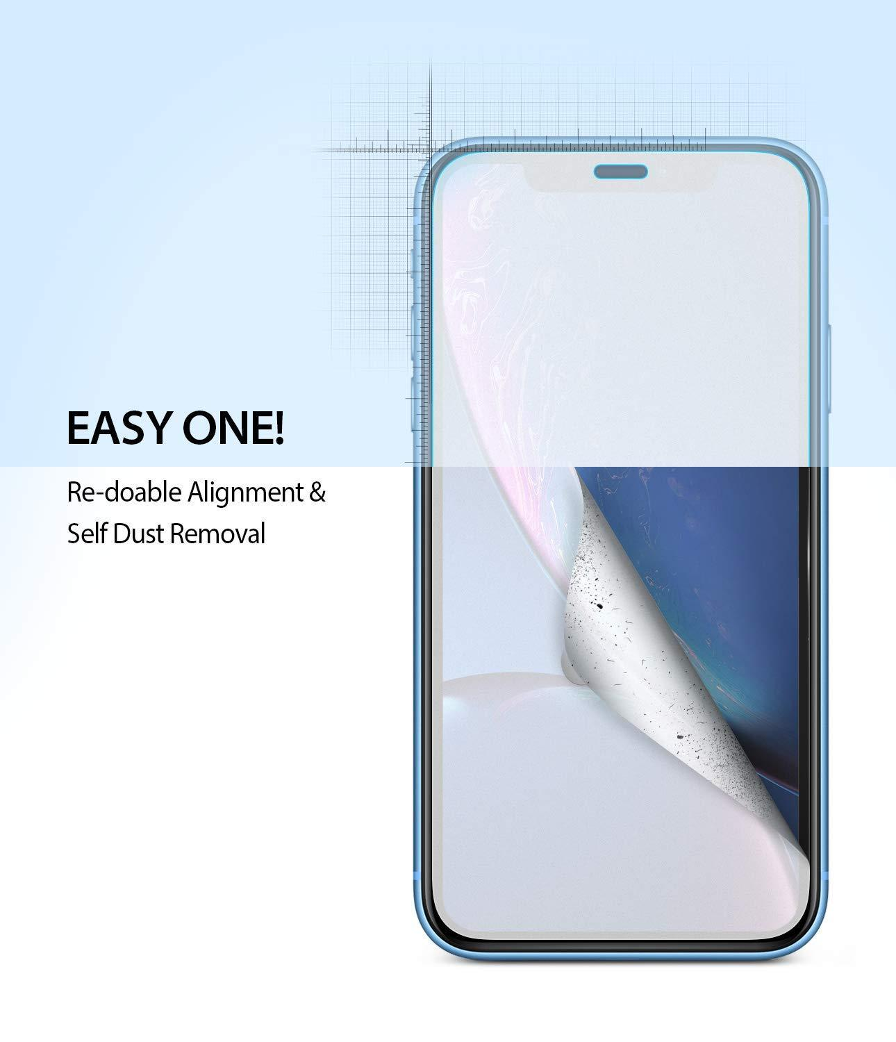 ringke dual easy film for iphone xr screen protector main easy step one