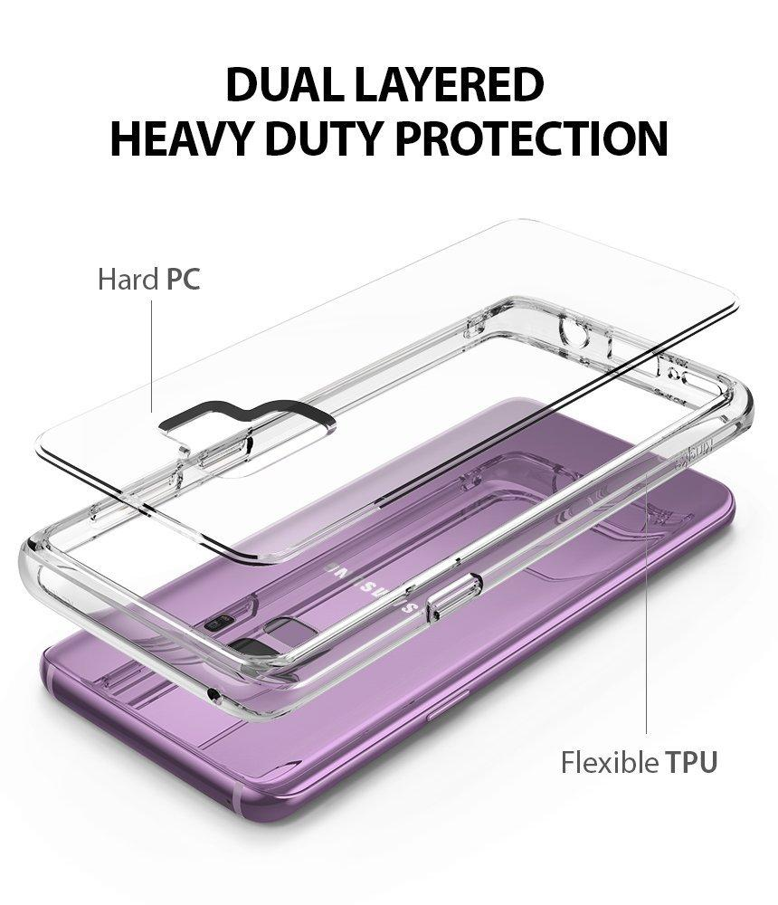 ringke fusion clear transparent hard back cover case for galaxy s9 main Dual Layered Heavy Duty Protection