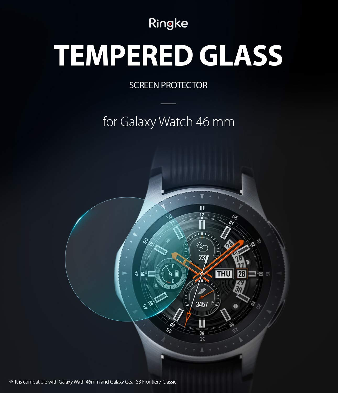 samsung galaxy watch mm gear s3 invisible defender glass