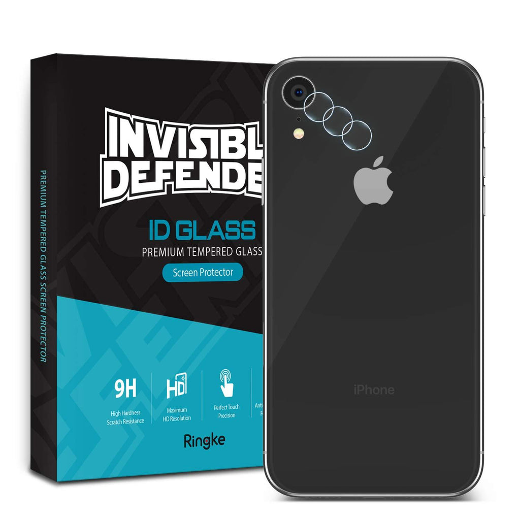 iphone xr invisible defender camera lens tempered glass protector 3 pack