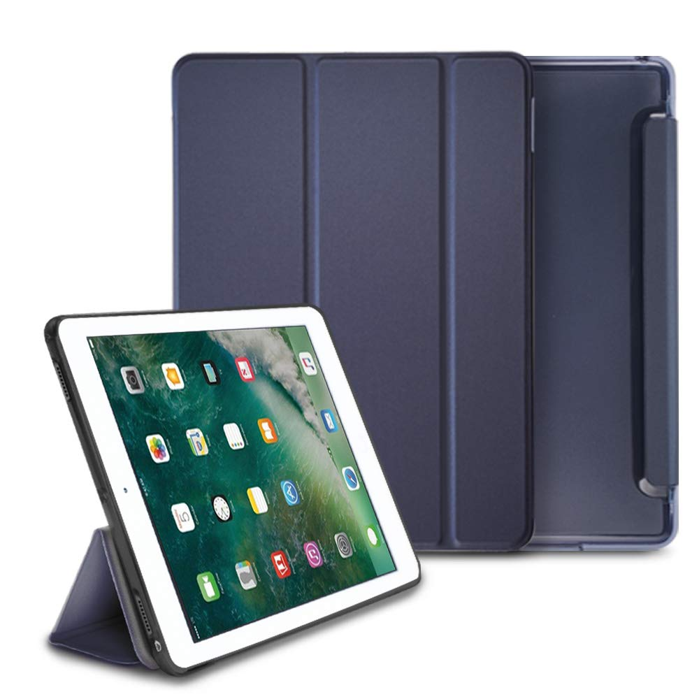 ringke smart cover clear slim case stand case for ipad pro 2017 (10.5 inch) - navy