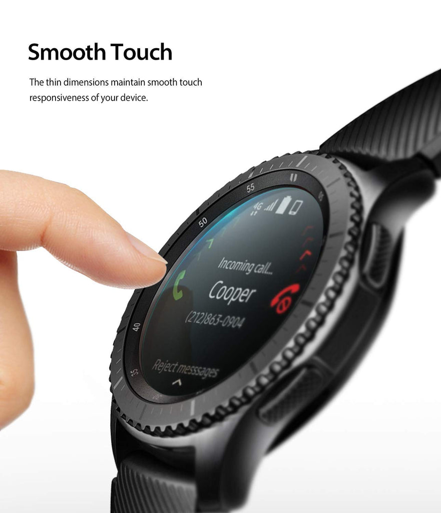 samsung galaxy watch mm gear s3 invisible defender glass responsive smooth touch