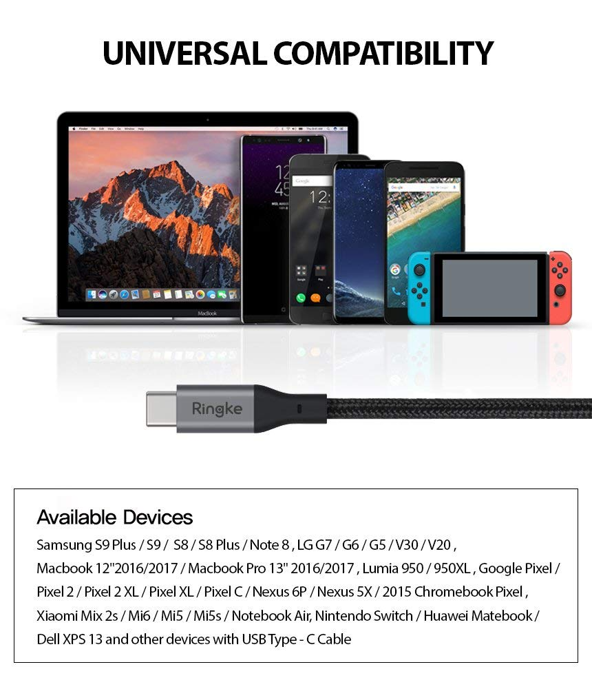 ringke usb type c to c cable ft