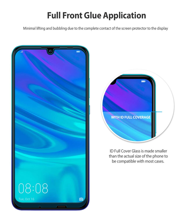 Huawei P Smart 2019 [INVISIBLE DEFENDER GLASS] Full Coverage Screen Protector