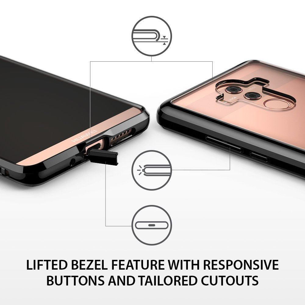 lifted bezel feature with responsive buttons and tailored cutouts