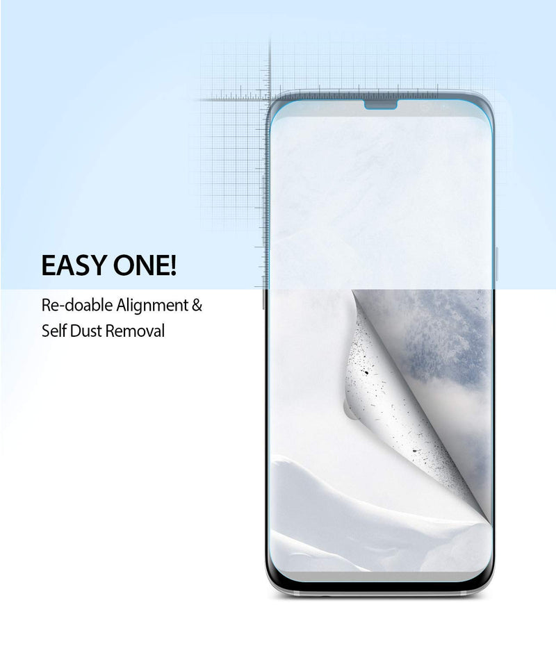 Galaxy S8 Plus [Dual Easy Full Cover] Screen Protector [2 Pack]