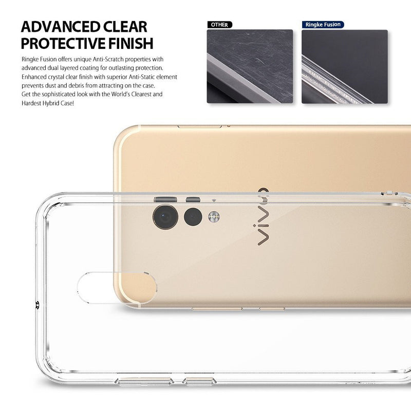 vivo xplay 6 case ringke fusion case crystal clear pc back tpu bumper case